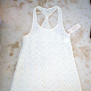 Roxy Cream Crochet Cover Up